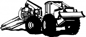 semi truck coloring pages - log skidder business car window decals stickers