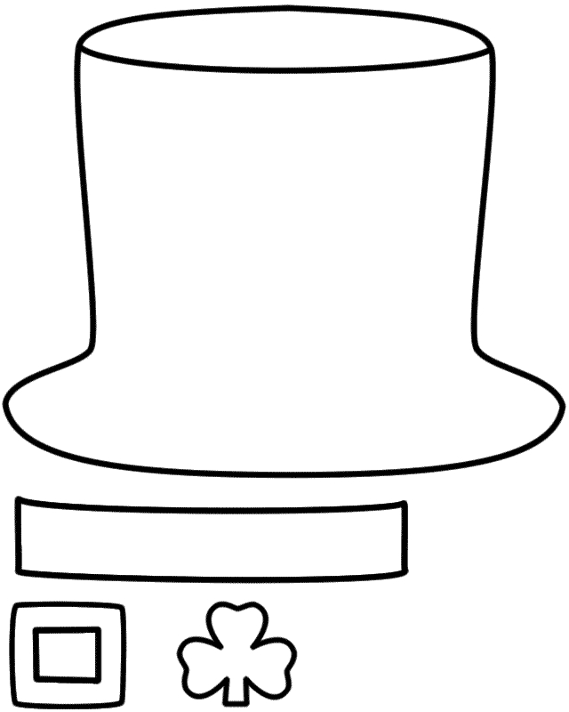 shamrock coloring page - leprechauns hat