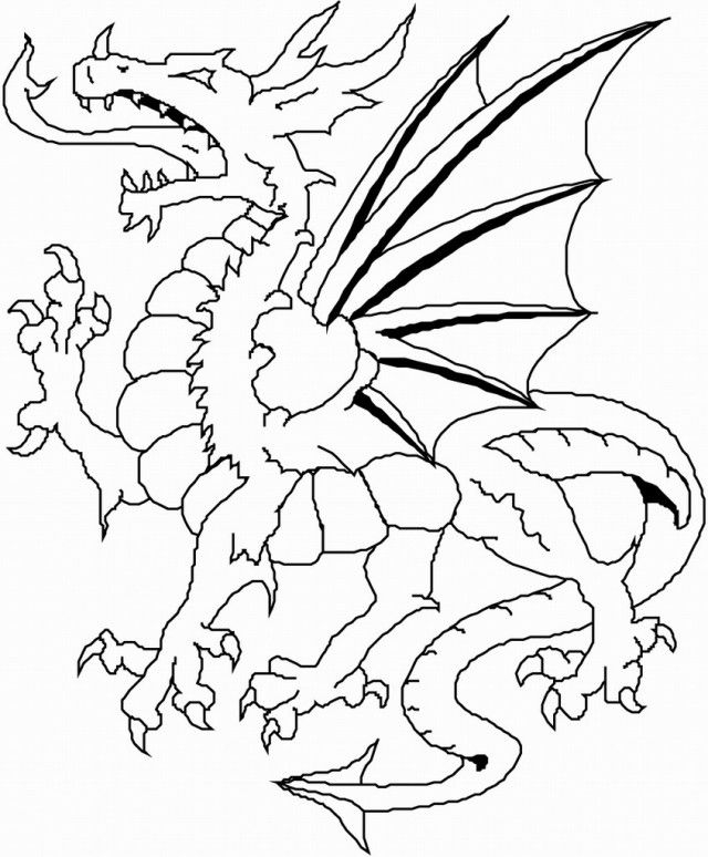 shamrock coloring page - scary dragon coloring pages
