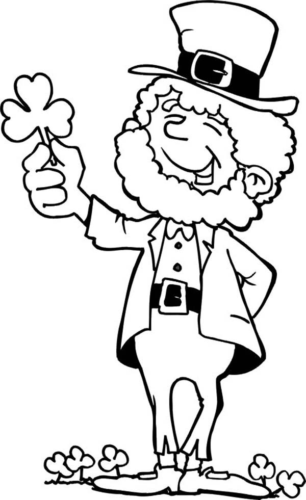 shamrock coloring page - pictures of shamrocks and leprechauns