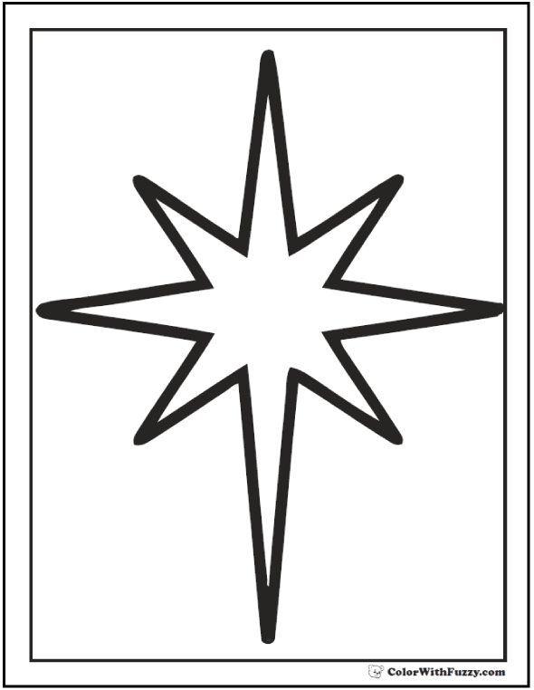 shapes coloring pages - star coloring pages