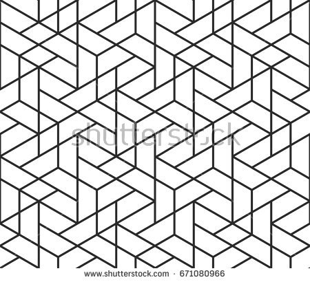 shapes coloring pages - black and white pattern