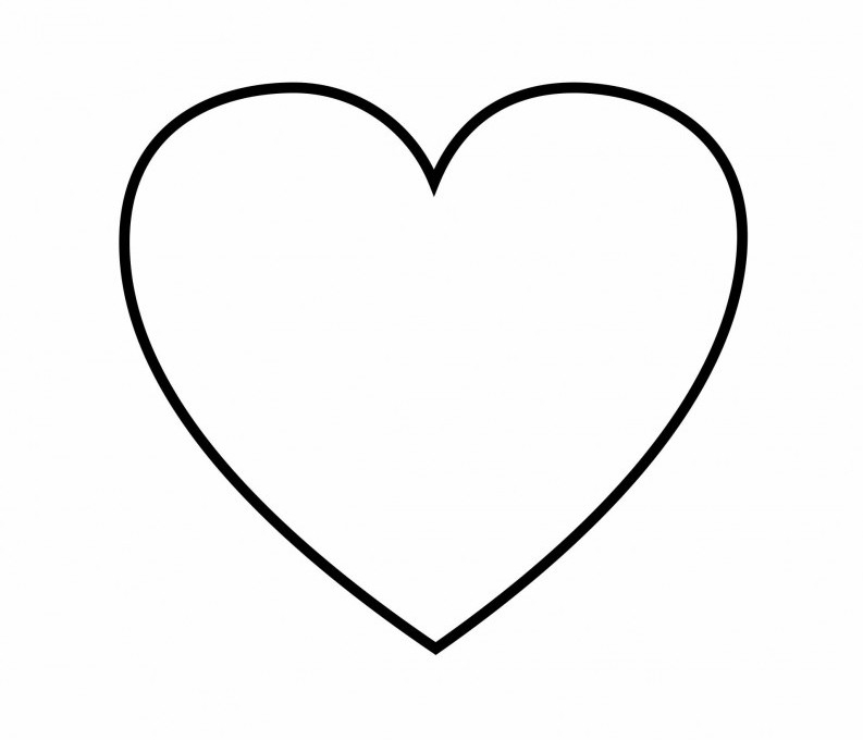 shapes coloring pages - heart