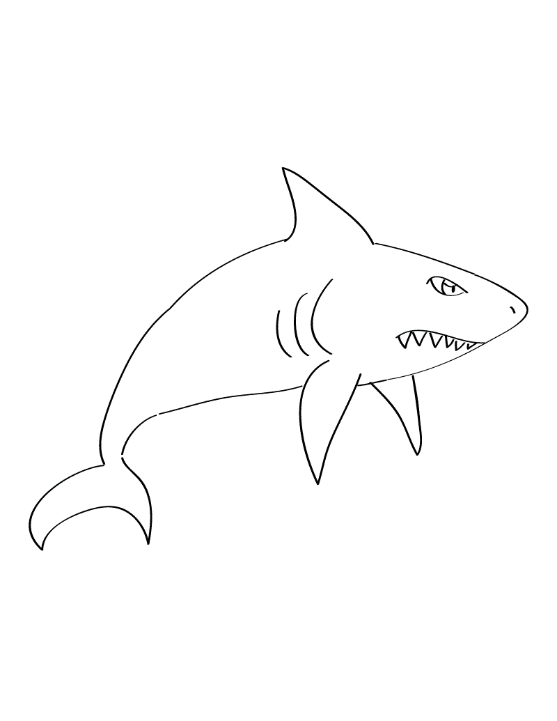 Shark Coloring Pages Printable - Free Printable Shark Coloring Pages for Kids