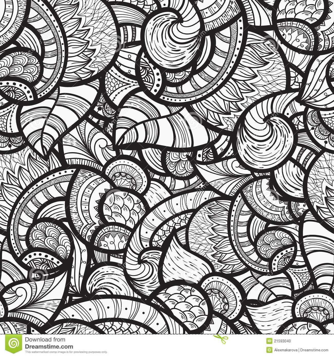 sharpie coloring pages - stock photo seamless ethnic doodle pattern image