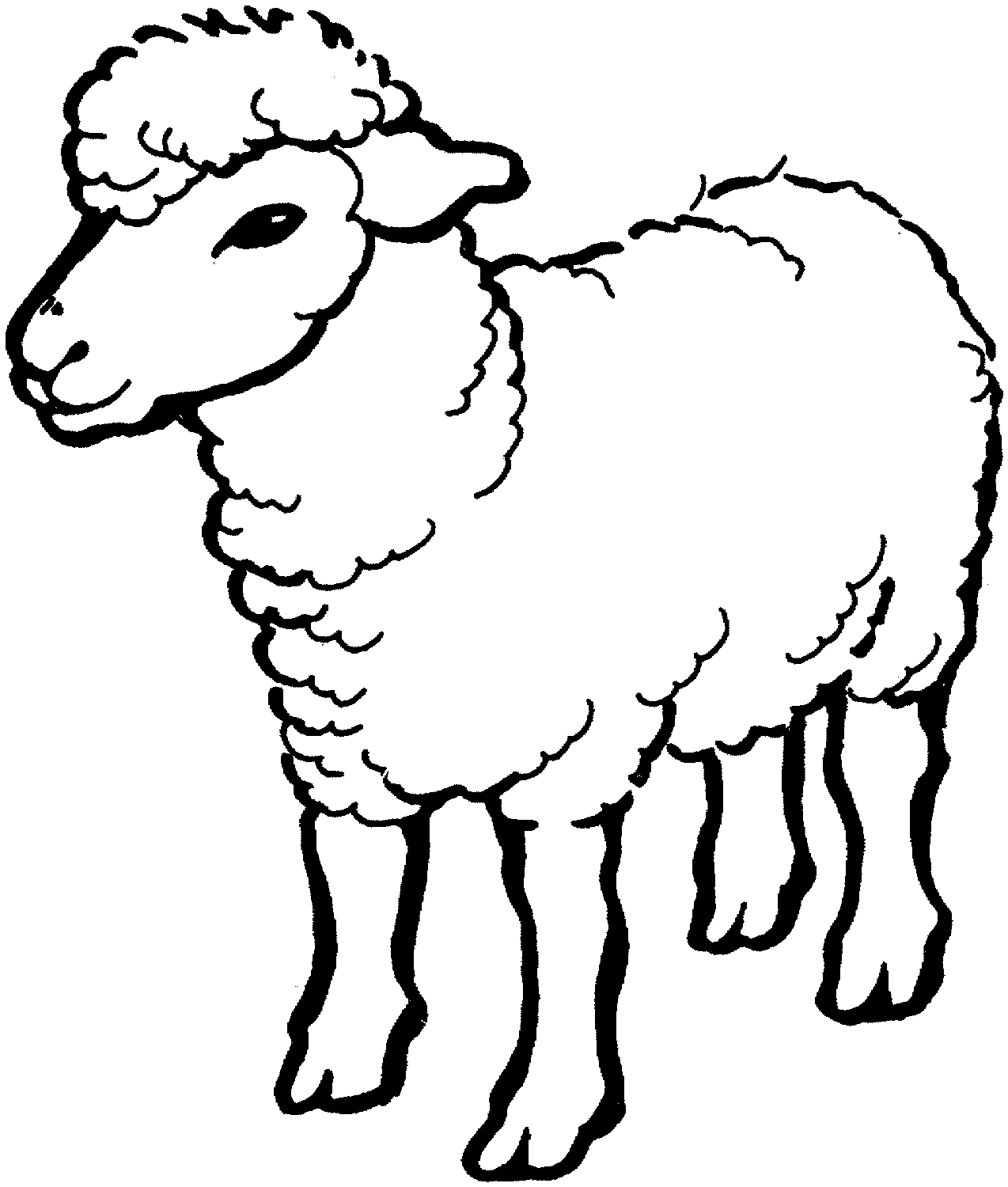 sheep coloring page - sheep coloring pages