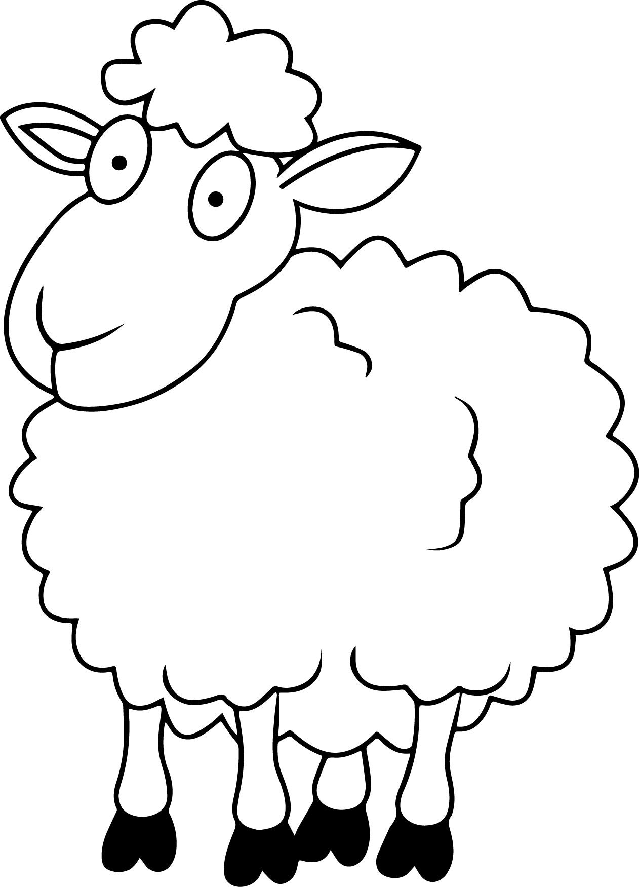 Sheep Coloring Page - Sheep Coloring Pages – 9 Coloring