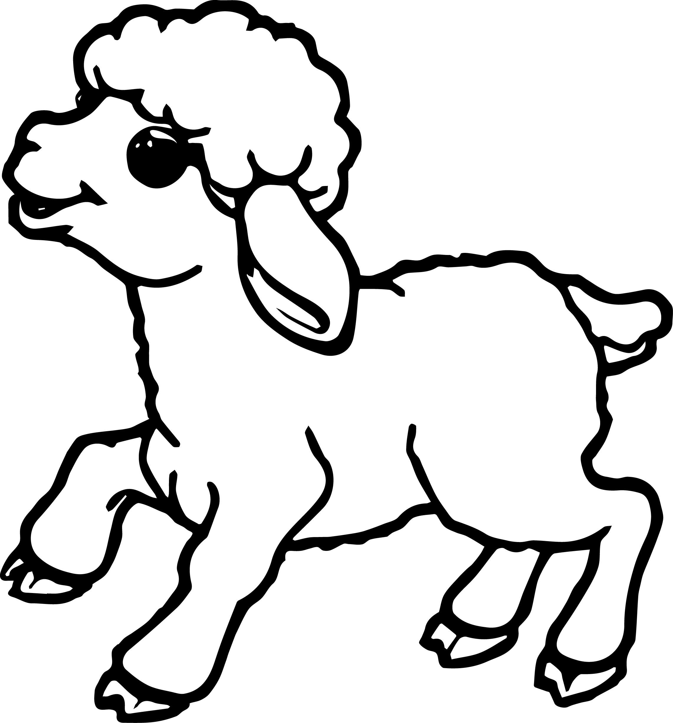 sheep coloring page - sheep outline coloring page
