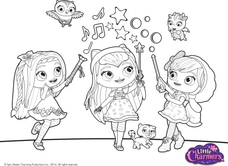 shimmer and shine coloring pages - colora con little charmers
