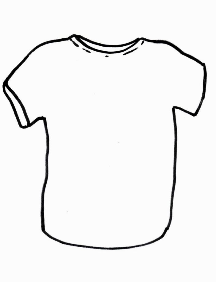 shirt coloring page - blank tshirt coloring page sketch templates