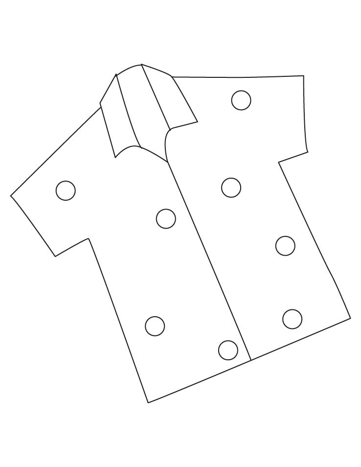 shirt coloring page - half sleevs shirt coloring pages 1d3736