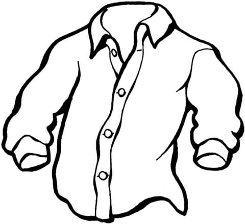 shirt coloring page - manly shirt