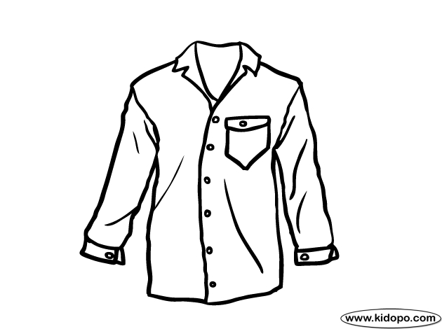 shirt coloring page - men shirt