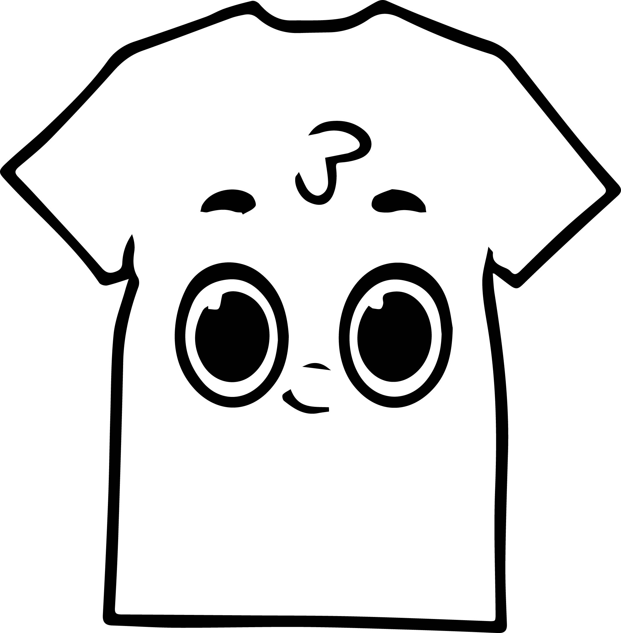 shirt coloring page - morphle cartoon cute shirt coloring page