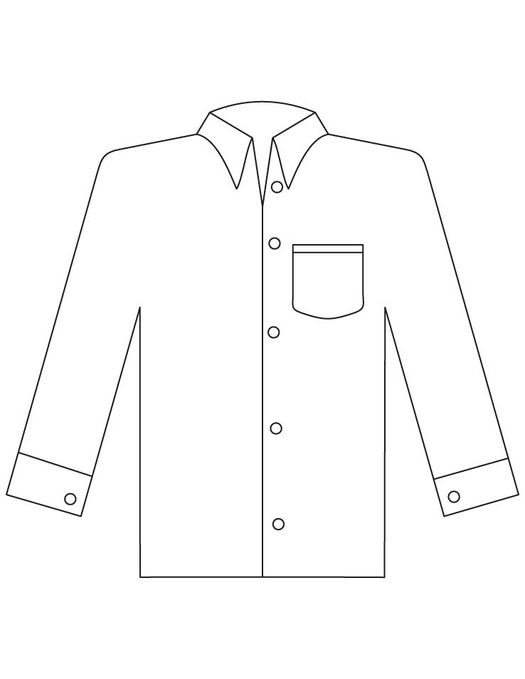 shirt coloring page - shirt coloring pages 2 1d3735