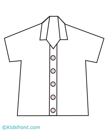 shirt coloring page - shirt bw 607 picture