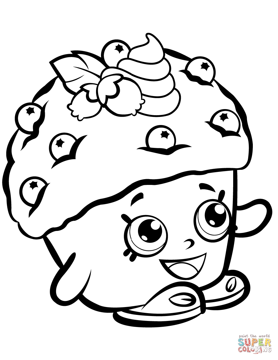 shopkin coloring pages - mini muffin shopkin