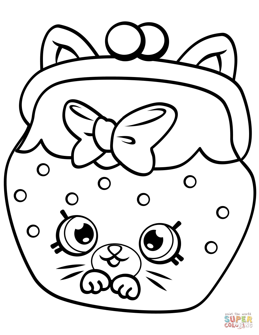 shopkin coloring pages - petkins cat snout shopkin