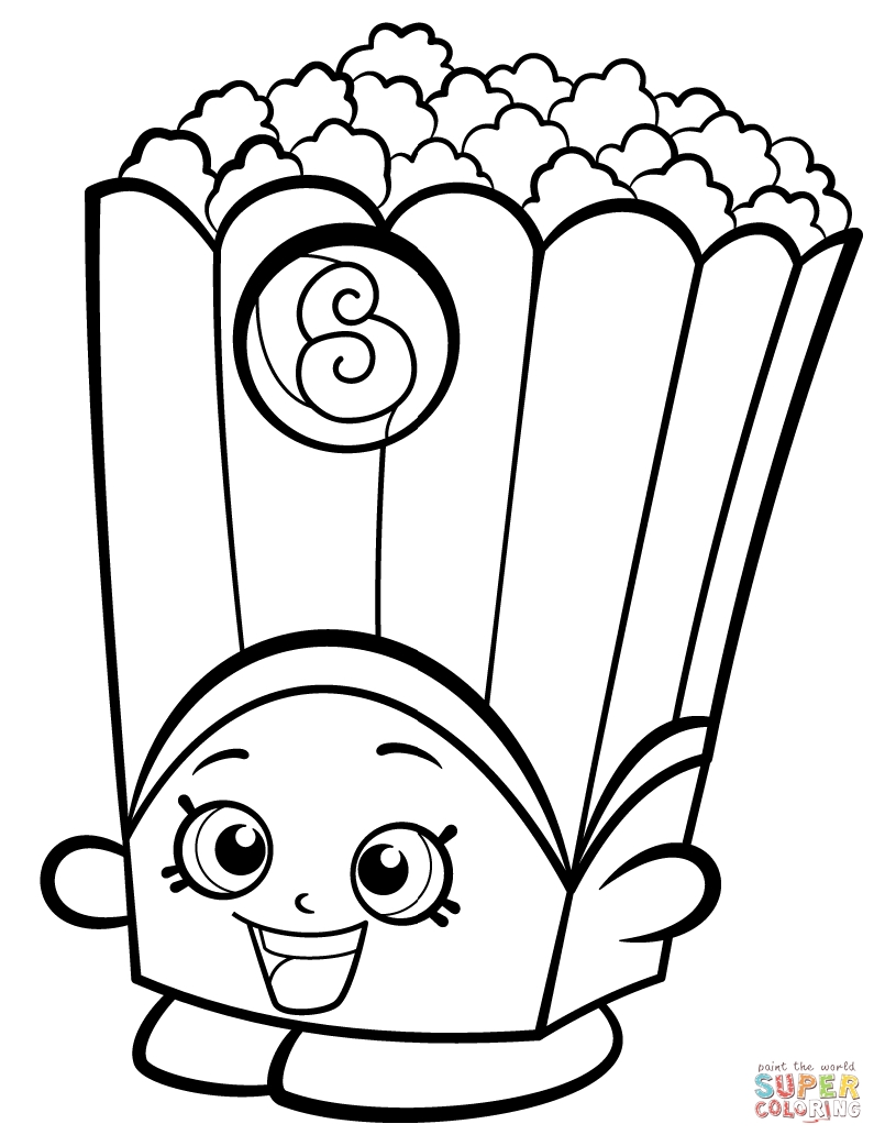 shopkin coloring pages - poppy corn shopkin