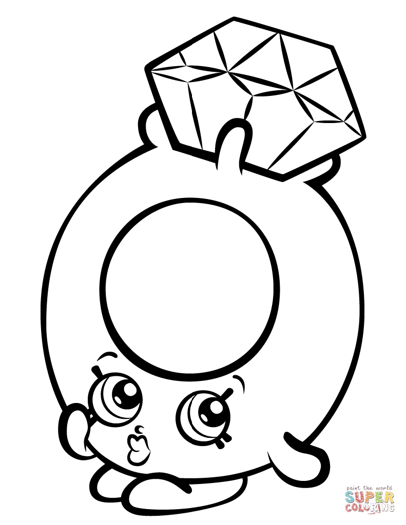 Shopkin Coloring Pages - Shopkin All the Characters Coloring Page Coloring Pages