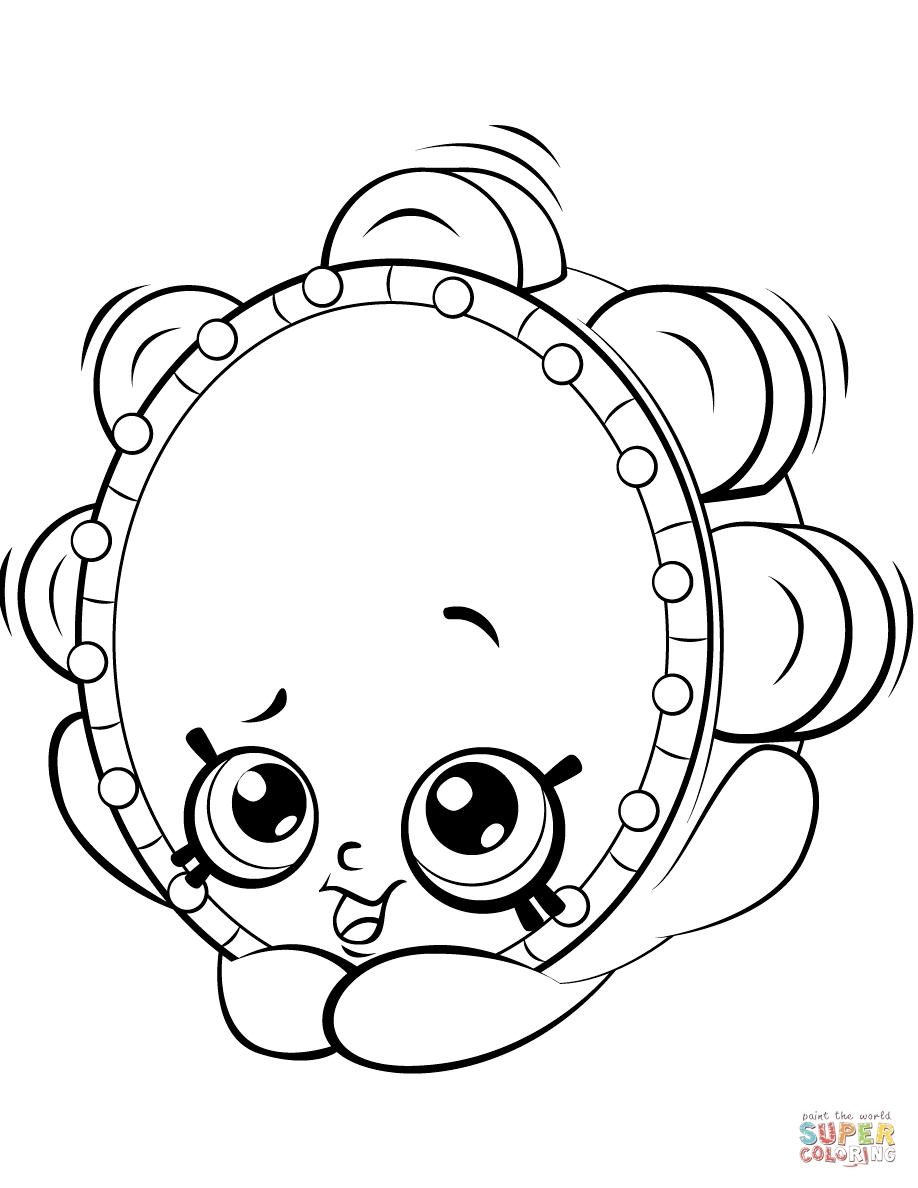 shopkin coloring pages - tammy tambourine shopkin