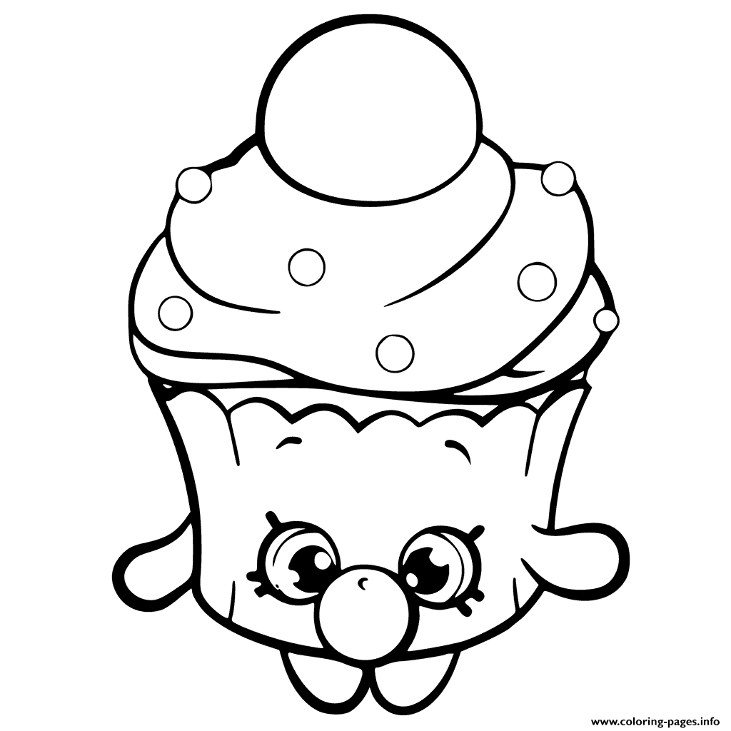 Shopkins Coloring Pages Season 6 - Bubble Cupcake Shopkins Season 6 Coloring Pages Printable