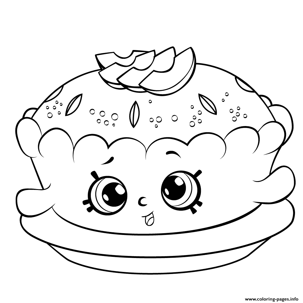 shopkins coloring pages season 6 - shopkins season 6 apple pie printable coloring pages book