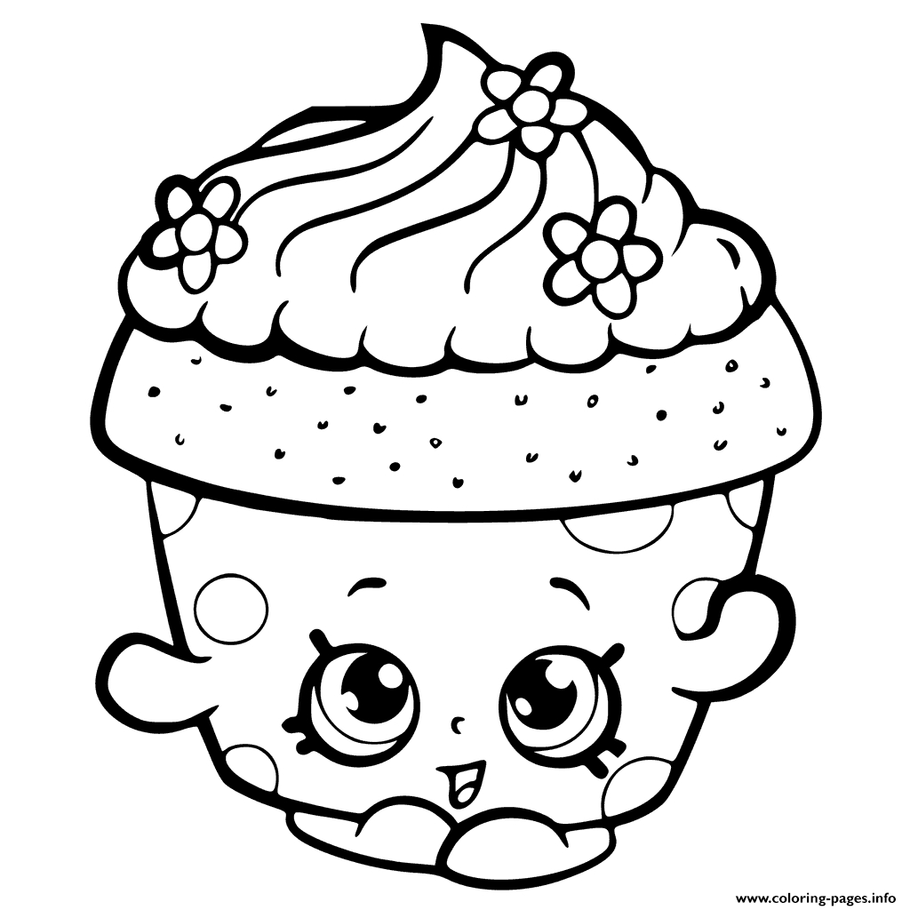 shopkins coloring pages season 6 - shopkins season 6 cupcake petal printable coloring pages book