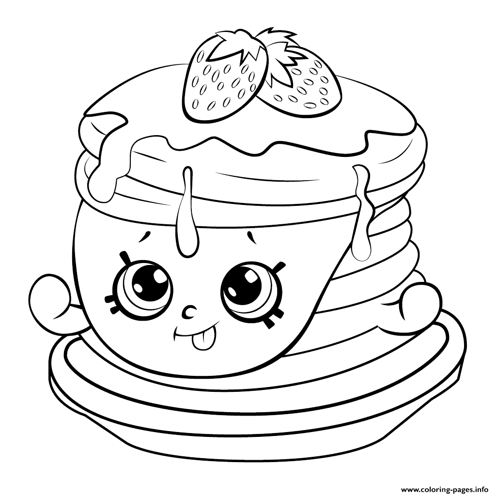 shopkins coloring pages season 6 - ultra rare strawberry pancake shopkins season 6 printable coloring pages book