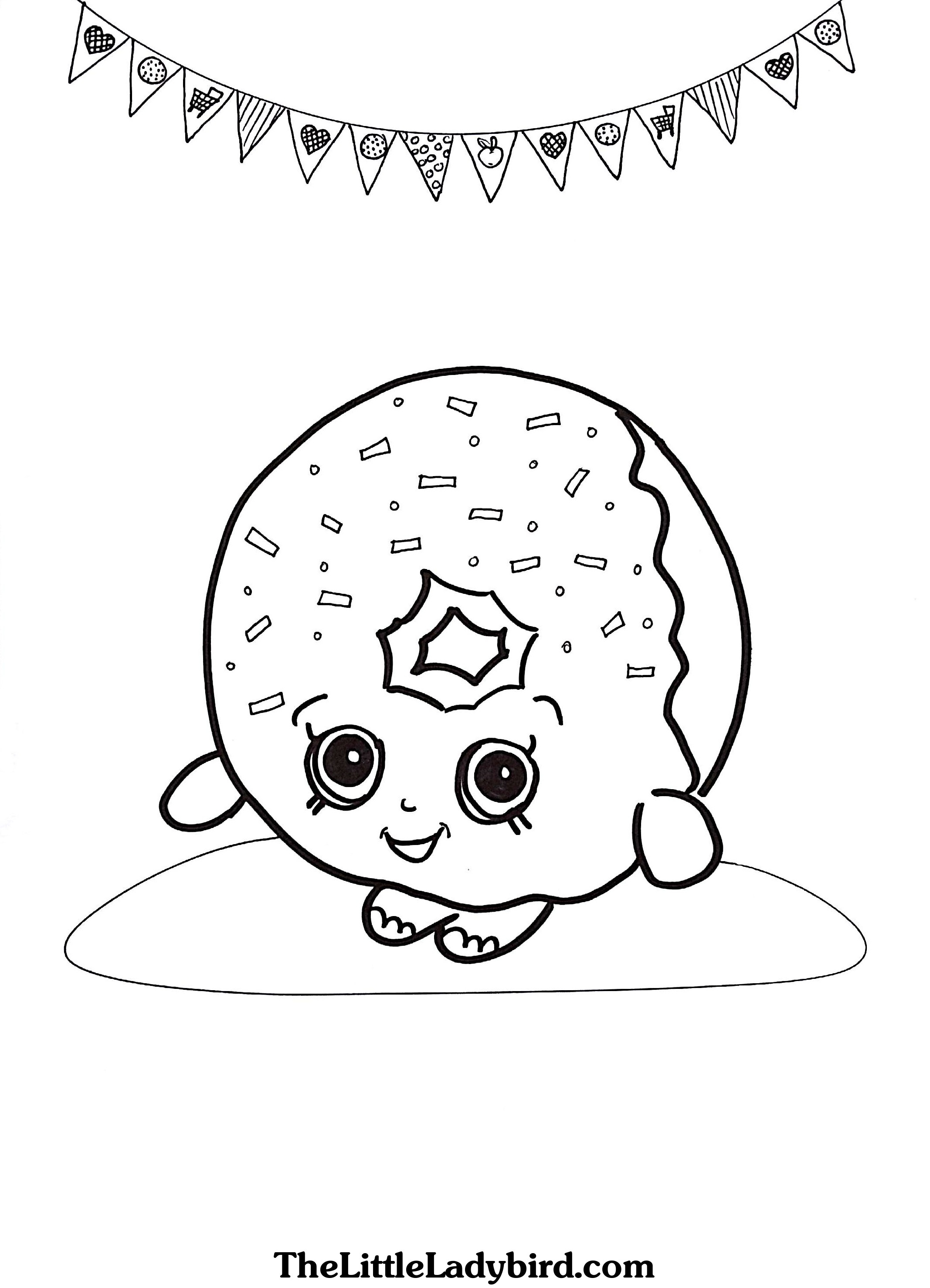 shopkins coloring pages - donut shopkins coloring pages printable 4