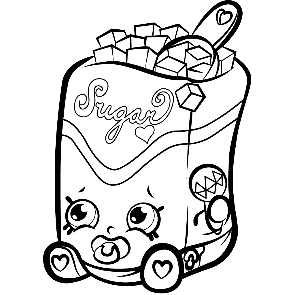 Shopkins Coloring Pages - Shopkins Coloring for Kids Choc Chips Printable 6