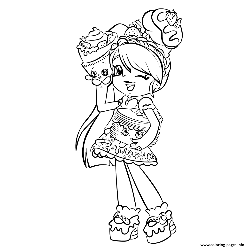 shoppies coloring pages - cute girl shopkins shoppies printable coloring pages book
