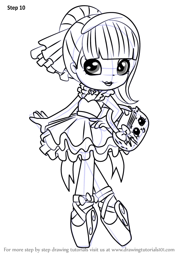 shoppies coloring pages - how to draw pirouetta from shoppies