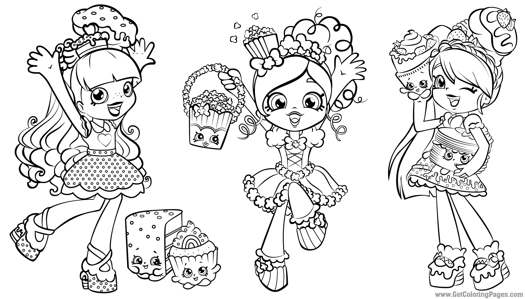Shoppies Coloring Pages - Shopkins Coloring Pages Getcoloringpages