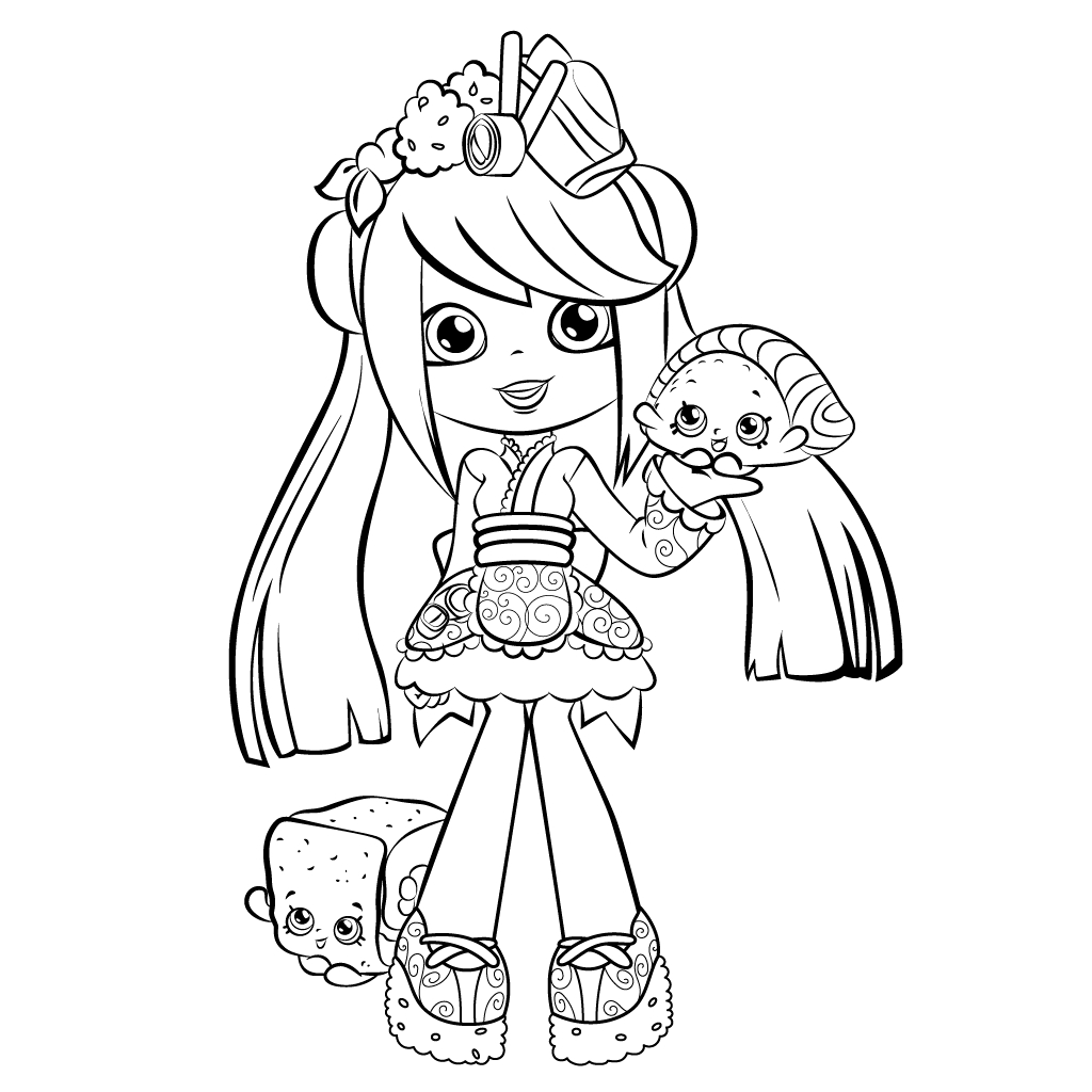 shoppies coloring pages - shopkins shoppies coloring pages