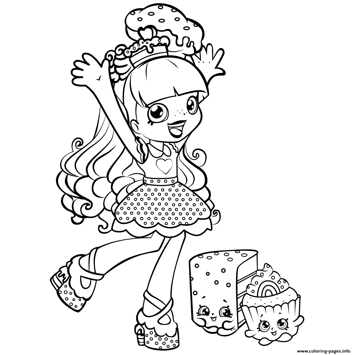 shoppies coloring pages - shopkins shoppies printable coloring pages book