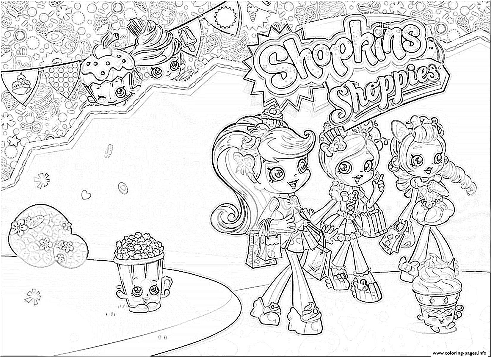 shoppies coloring pages - shopkins shoppies girls printable coloring pages book