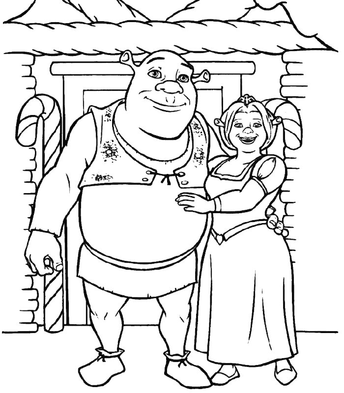 Shrek Coloring Pages - Free Printable Shrek Coloring Pages for Kids