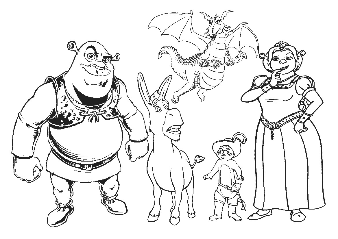 shrek coloring pages - shrek coloring pages