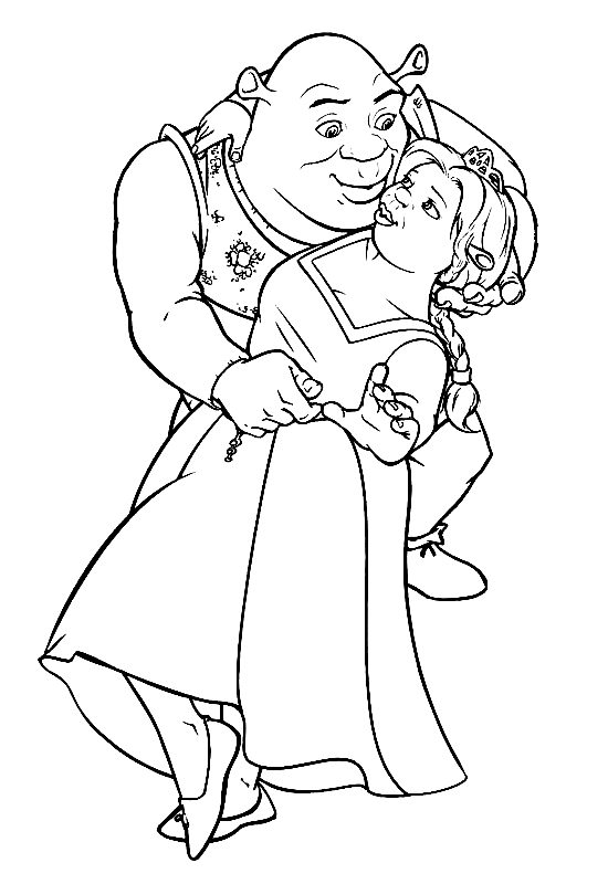 shrek coloring pages - shrek coloring pages collection