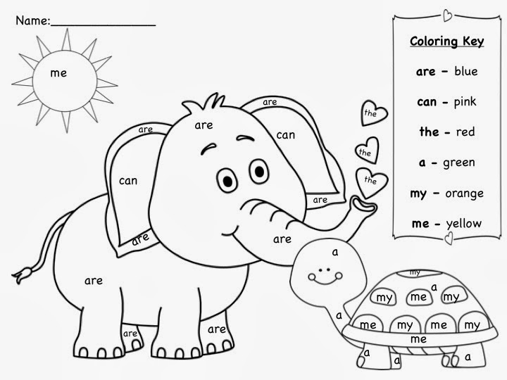 Sight Word Coloring Pages - Sight Word Coloring Pages Printable
