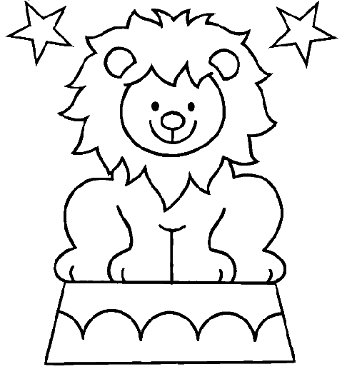simba coloring pages - lion cirque