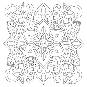 simple adult coloring pages - liltkids