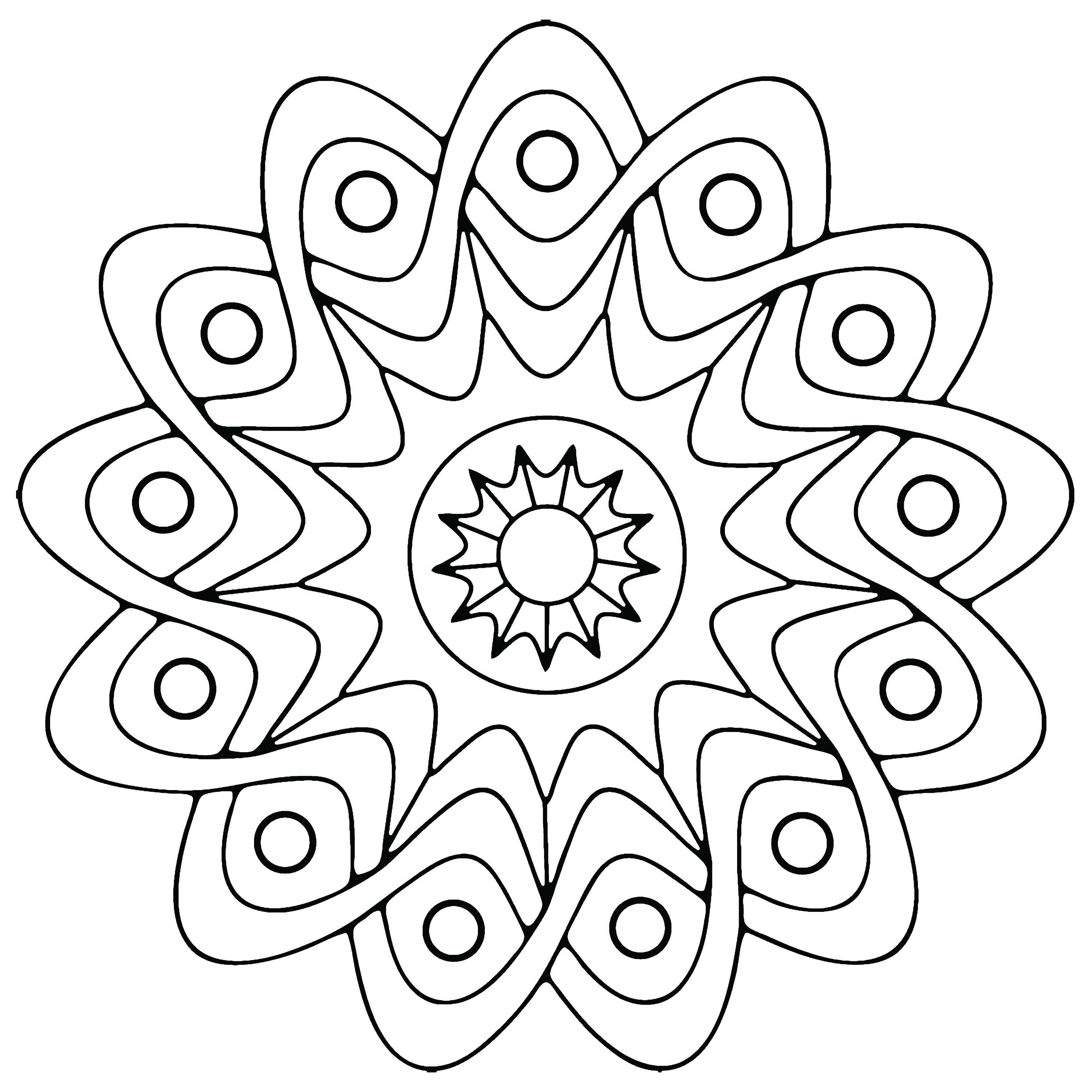 simple adult coloring pages - geometric coloring pages