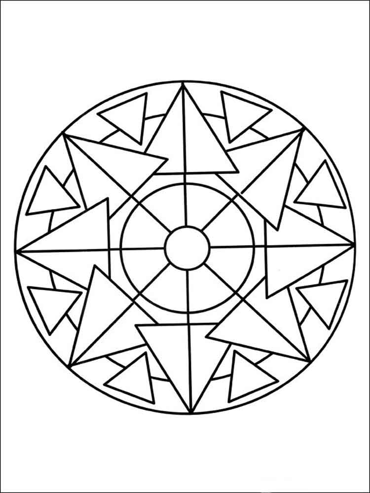 simple adult coloring pages - simple mandala coloring pages