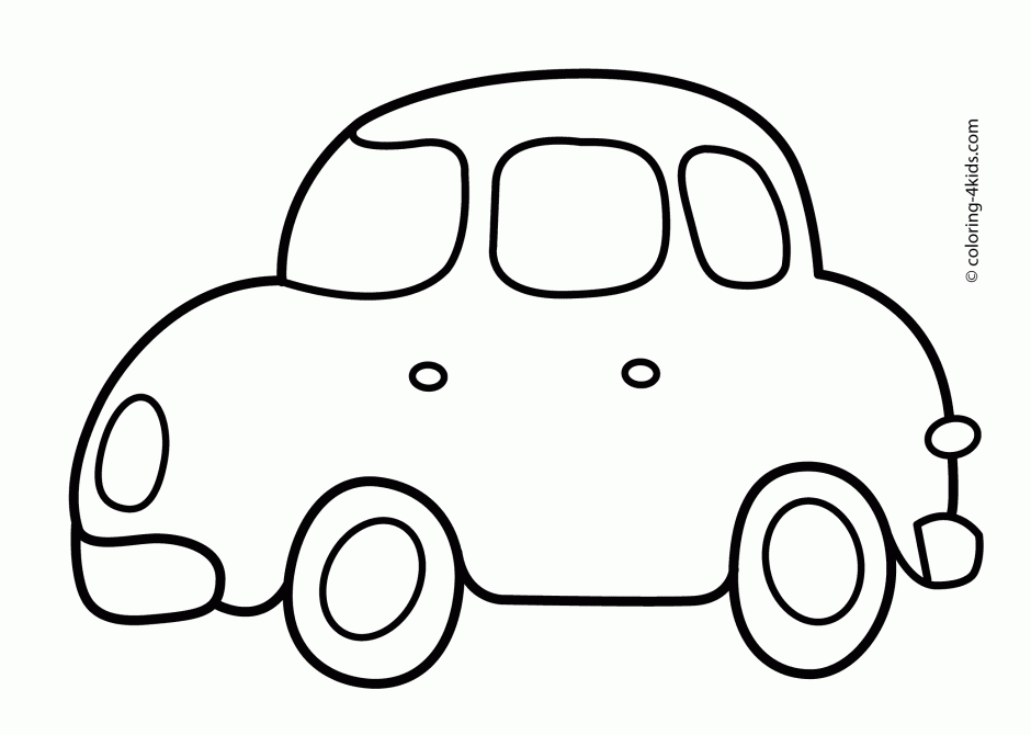 simple coloring pages - 30 car coloring pages