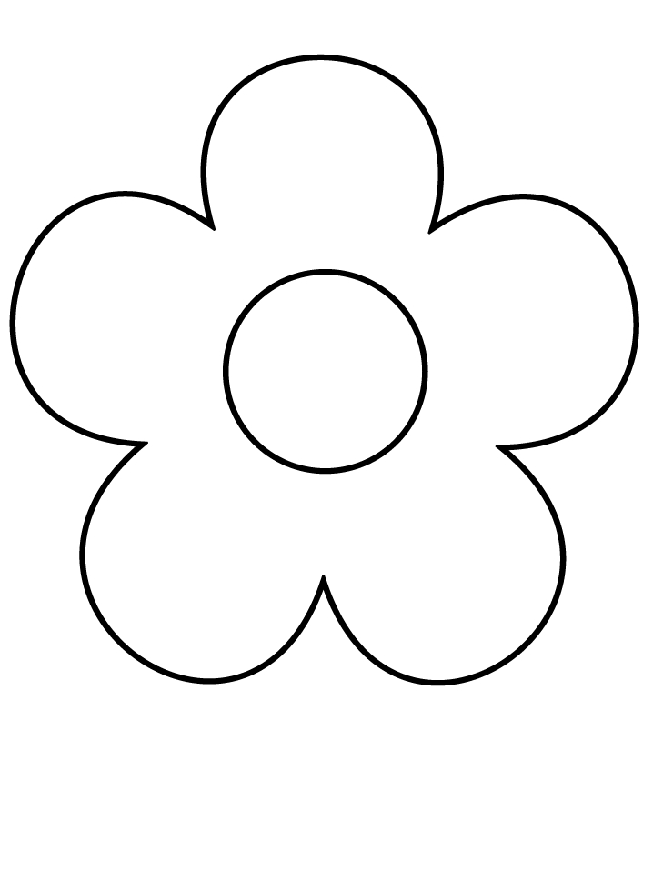 simple coloring pages - flower3 simple shapes coloring pages