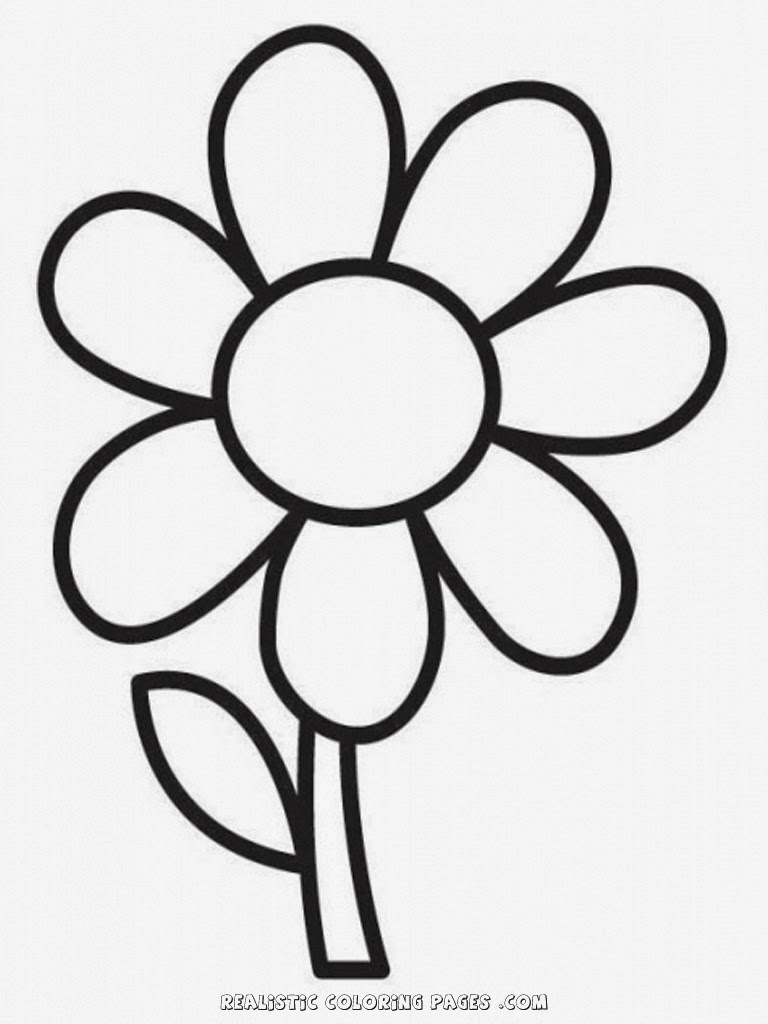 simple coloring pages - r=simple flower