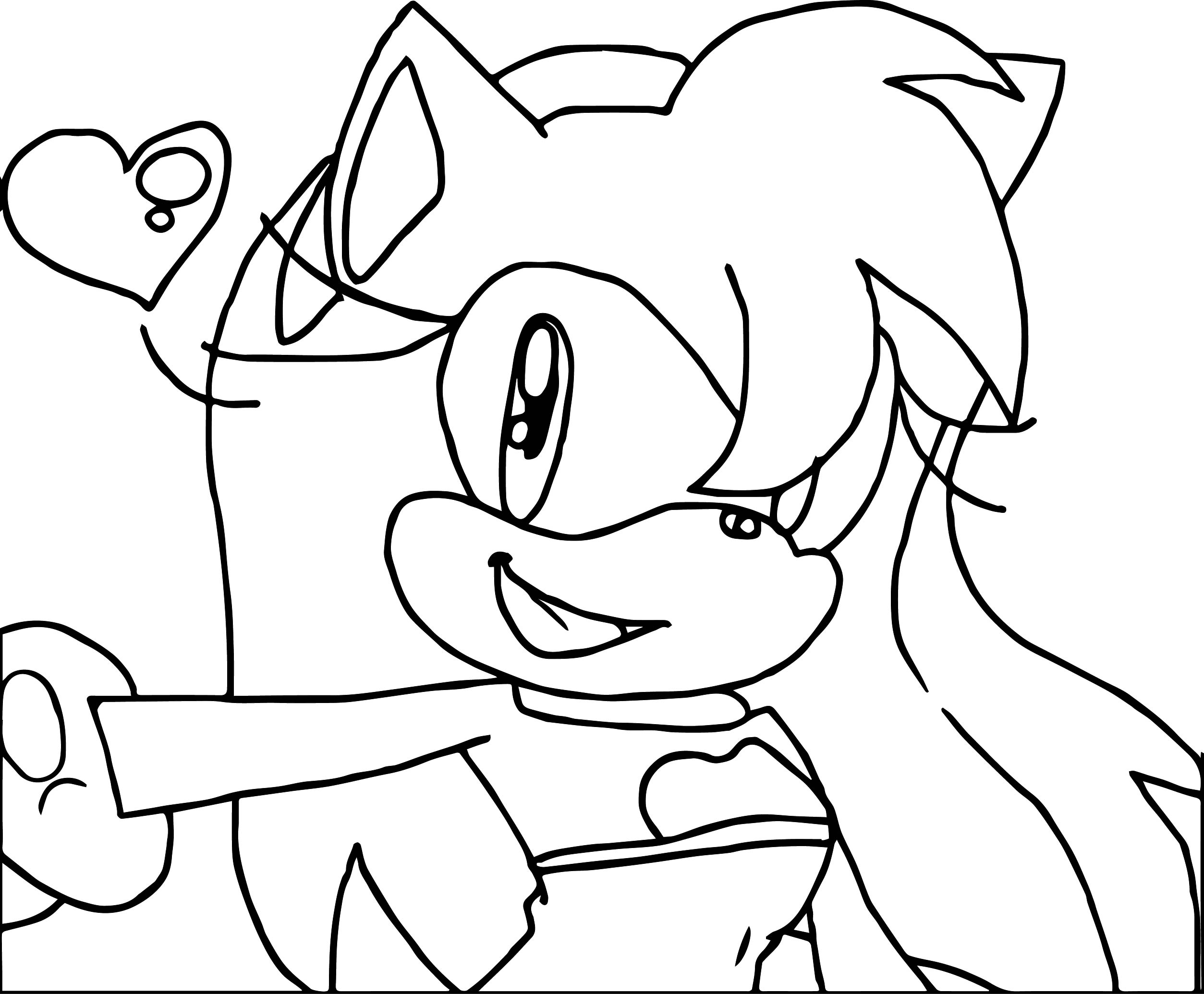 simple coloring pages - simple amy rose coloring page