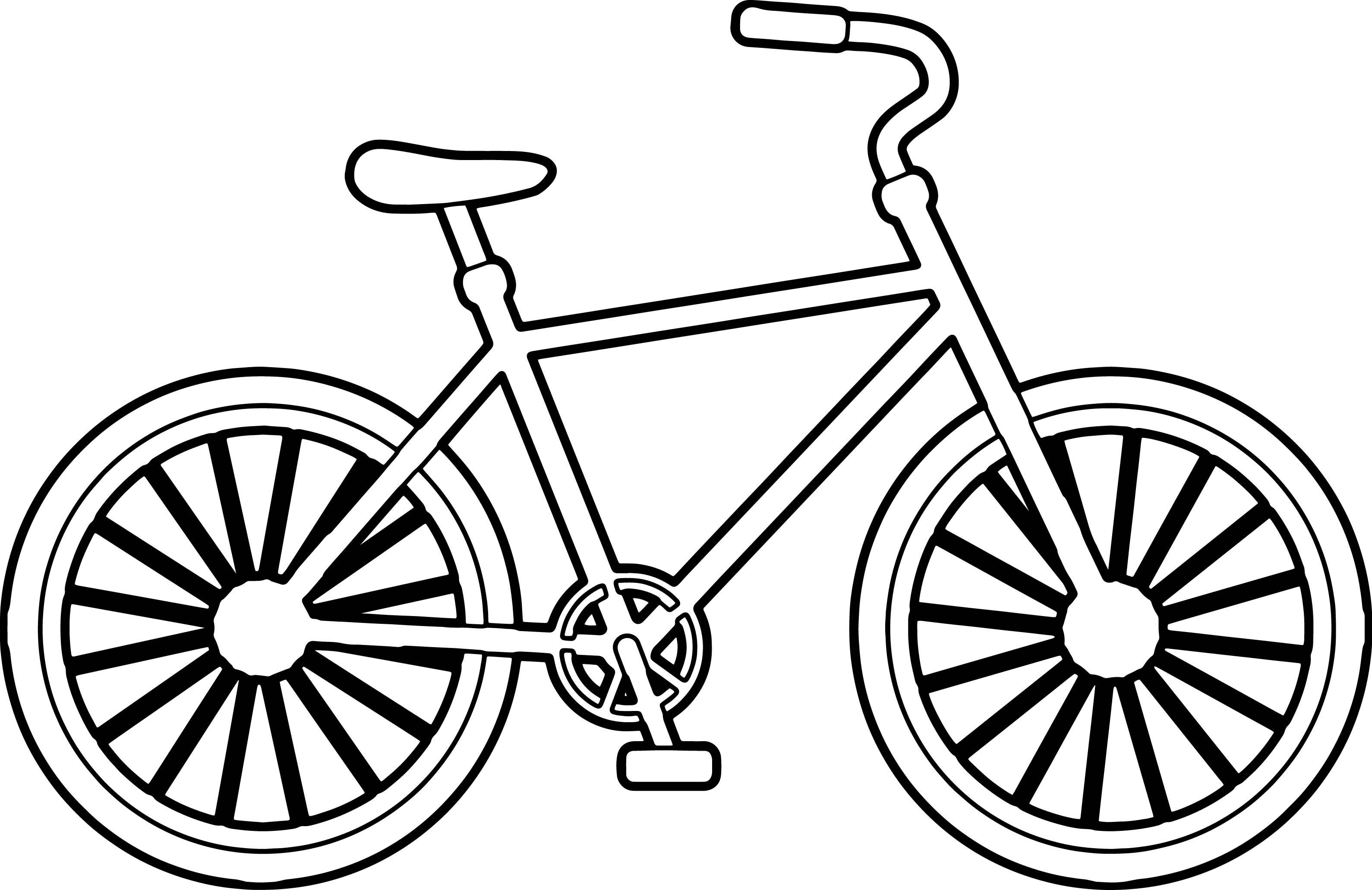 simple coloring pages - simple bike biycle coloring page